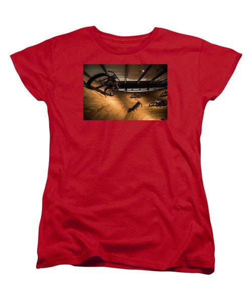 Women's T-Shirt (Standard Cut) featuring the photograph Rounding The Bend by Randy Scherkenbach
