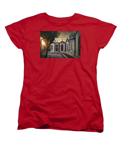Women's T-Shirt (Standard Cut) featuring the photograph Row Of Crypts by Carlos Caetano