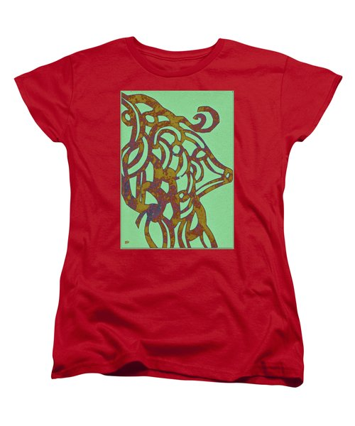Royal Sheep Cut Out Women's T-Shirt (Standard Cut) by Patricia Cleasby