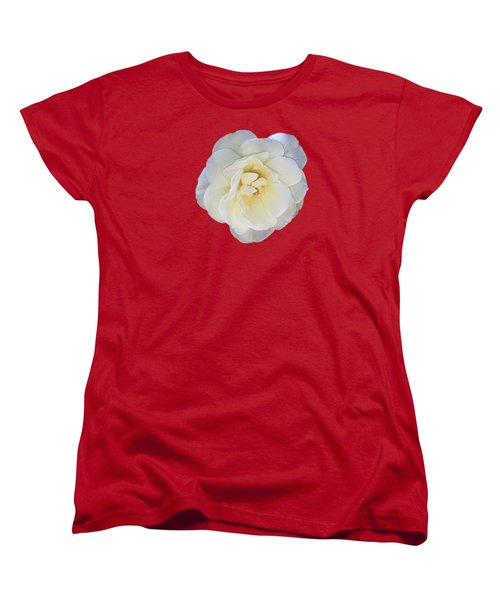Royal White Rose Women's T-Shirt (Standard Cut) by Daniel Hebard
