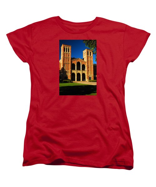 Women's T-Shirt (Standard Cut) featuring the photograph Royce Hall Ucla by James Kirkikis