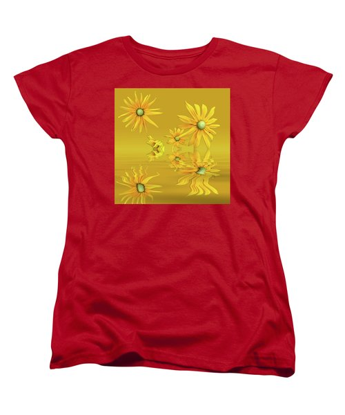 Women's T-Shirt (Standard Cut) featuring the photograph Rudbekia Yellow Flowers by David French