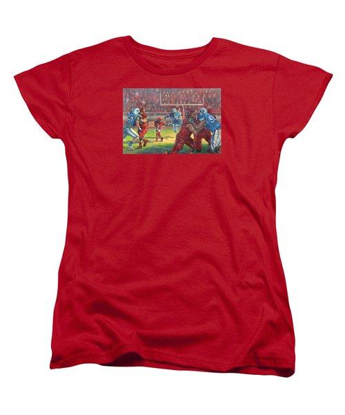 Running Courage Women's T-Shirt (Standard Cut) by Jeff Brimley
