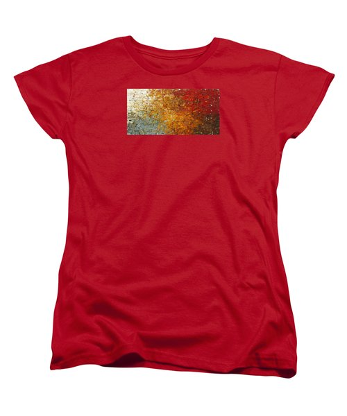 Women's T-Shirt (Standard Cut) featuring the painting Running Free - Abstract Art by Carmen Guedez