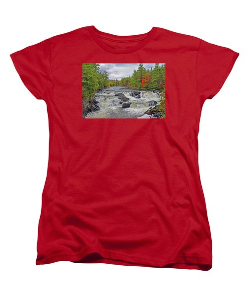 Women's T-Shirt (Standard Cut) featuring the photograph Rushing Towards Fall by Glenn Gordon