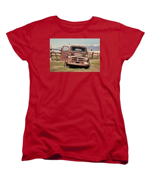 Women's T-Shirt (Standard Cut) featuring the photograph Rusty Old Dodge by Ely Arsha