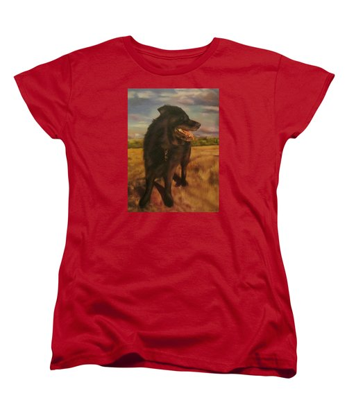Women's T-Shirt (Standard Cut) featuring the painting Ruudi by Cherise Foster