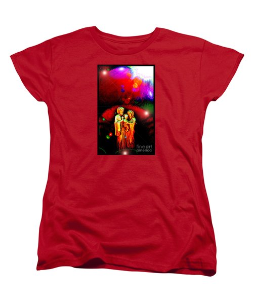 Sacred Family In Cosmos Women's T-Shirt (Standard Cut) by Susanne Still