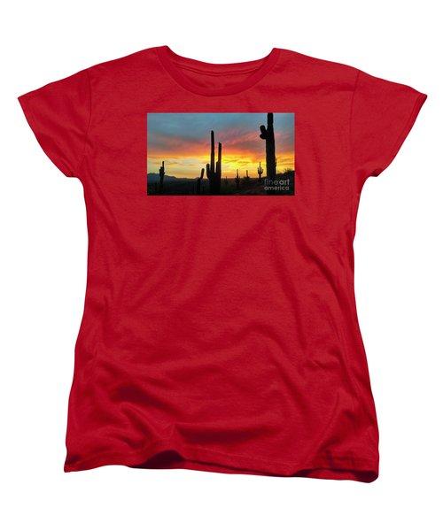 Saguaro Sunset Women's T-Shirt (Standard Cut)