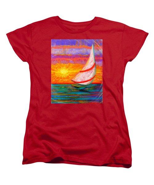 Sailaway Women's T-Shirt (Standard Cut) by Jeanette Jarmon
