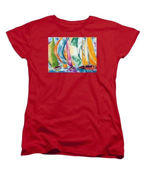 Sailboat Race Women's T-Shirt (Standard Cut) by Lisa Boyd