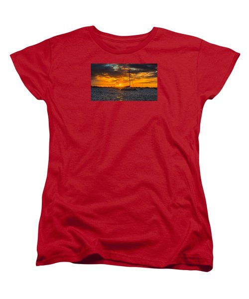 Sailor Sunset Women's T-Shirt (Standard Cut) by Kevin Cable