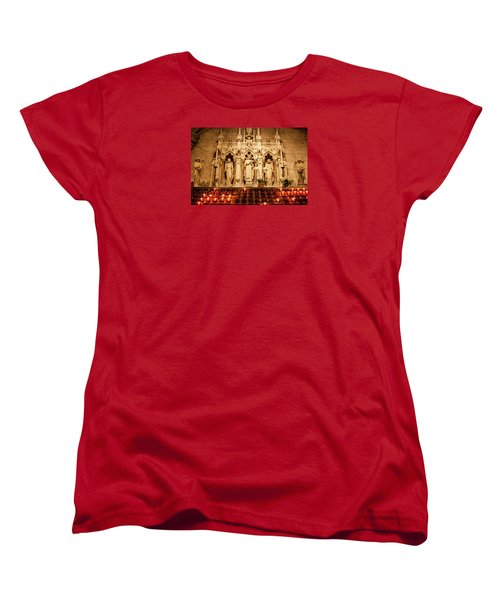 Saint Rose Of Lima Altar Women's T-Shirt (Standard Cut) by Jean Haynes