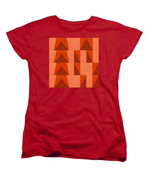 Salmon With Red And Brown Women's T-Shirt (Standard Cut) by Michelle Calkins