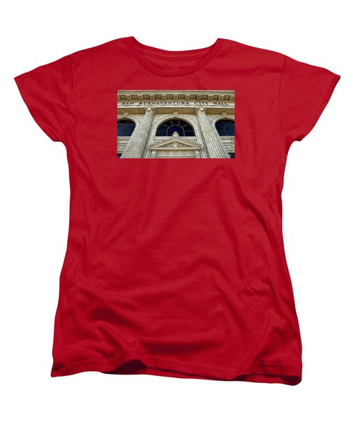 Women's T-Shirt (Standard Cut) featuring the photograph San Buenaventura City Hall by John A Rodriguez