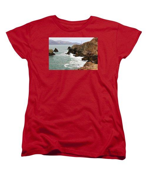 San Francisco Lands End Women's T-Shirt (Standard Cut) by Cheryl Del Toro
