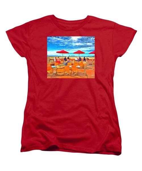 San Francisco Skyline From Alameda  Women's T-Shirt (Standard Cut) by Linda Weinstock
