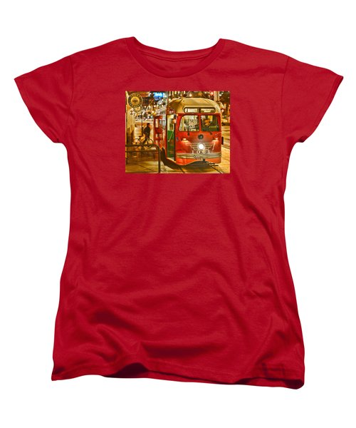 Women's T-Shirt (Standard Cut) featuring the photograph San Francisco's Ferry Terminal by Steve Siri