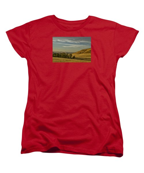 Women's T-Shirt (Standard Cut) featuring the photograph San Luis Reservoir 9891 by Tom Kelly
