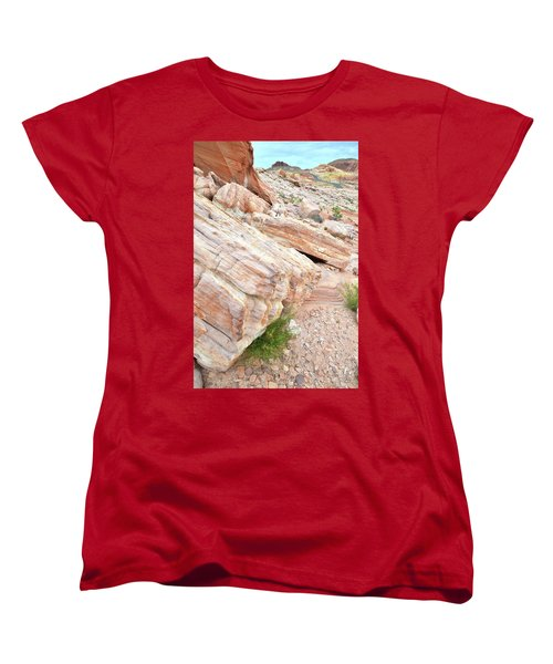 Women's T-Shirt (Standard Cut) featuring the photograph Sandstone Along Park Road In Valley Of Fire by Ray Mathis