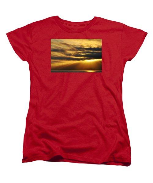 Women's T-Shirt (Standard Cut) featuring the photograph Santa Monica Golden Hour by Kyle Hanson