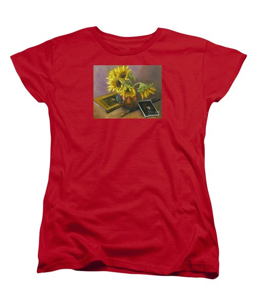 Sargent And Sunflowers Women's T-Shirt (Standard Cut) by Lisa  Spencer