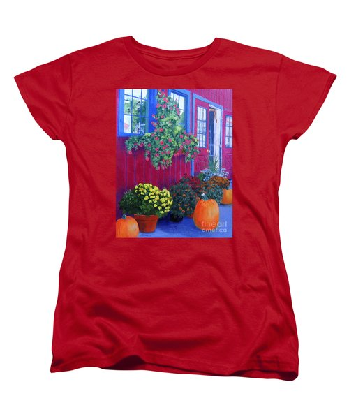 Savickis Market Women's T-Shirt (Standard Cut) by Lynne Reichhart