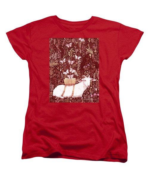 Women's T-Shirt (Standard Cut) featuring the digital art Scapegoat Healing Tapestry Print by Lise Winne