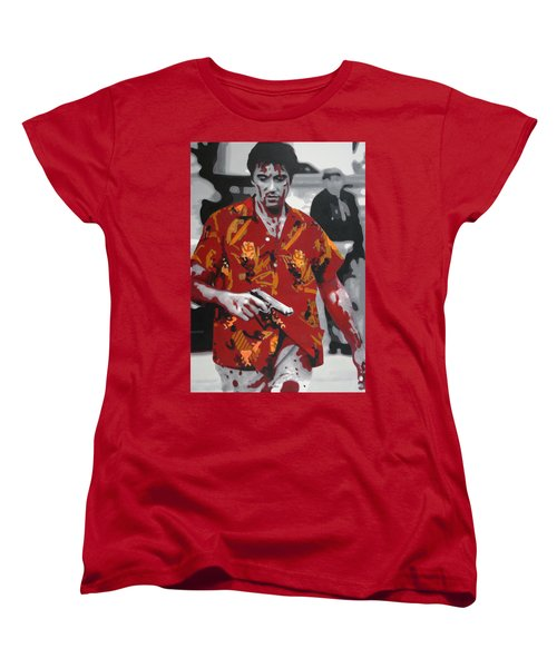 Scarface 2013 Women's T-Shirt (Standard Cut) by Luis Ludzska