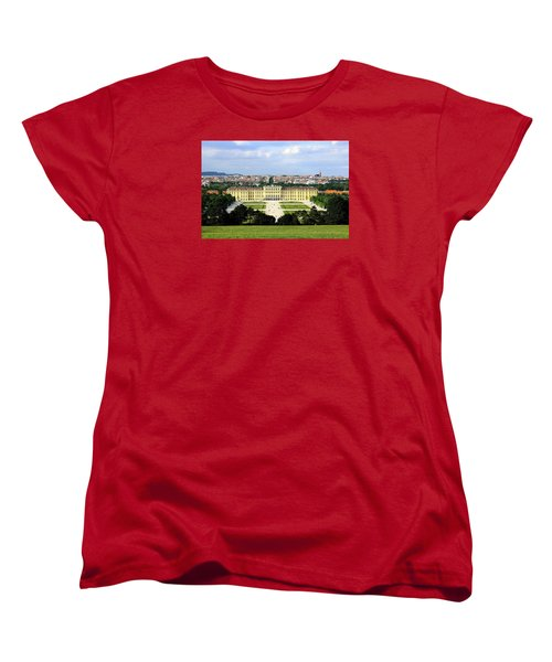 Schloss Schoenbrunn, Vienna Women's T-Shirt (Standard Cut) by Christian Slanec
