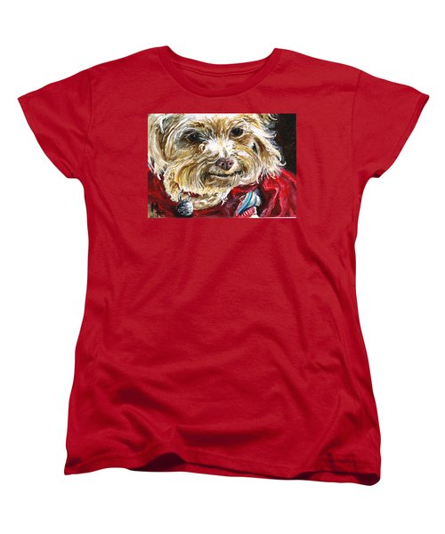 Scooter From Muttville Women's T-Shirt (Standard Cut) by Mary-Lee Sanders
