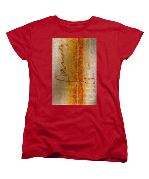 Women's T-Shirt (Standard Cut) featuring the photograph Scribbly Gum Bark by Werner Padarin