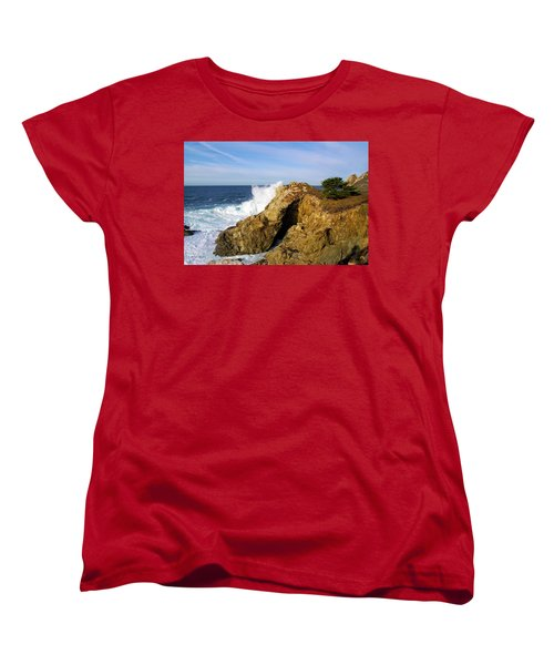 Women's T-Shirt (Standard Cut) featuring the photograph Sea Cave Big Sur by Floyd Snyder