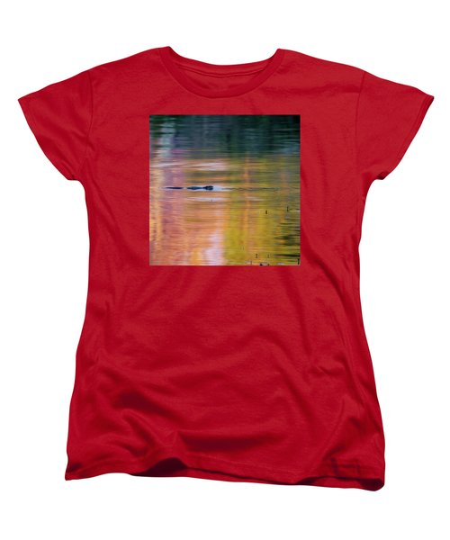 Women's T-Shirt (Standard Cut) featuring the photograph Sea Of Color Square by Bill Wakeley