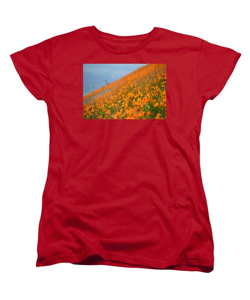 Sea Of Poppies Women's T-Shirt (Standard Cut) by Kyle Hanson