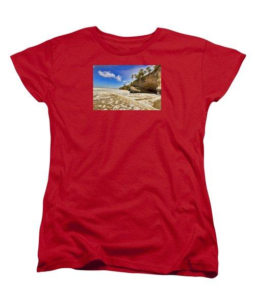 Sea Waves Women's T-Shirt (Standard Cut) by Nadia Sanowar