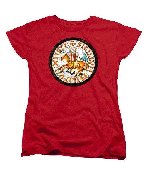 Seal Of The Knights Templar Women's T-Shirt (Standard Cut) by John Springfield