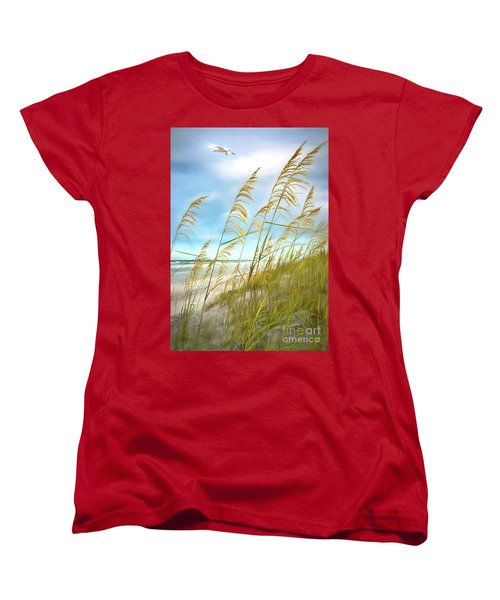 Seaoats Fantasy Women's T-Shirt (Standard Cut) by Linda Olsen