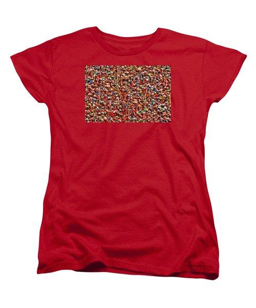 Seattle Gum Wall 2 Women's T-Shirt (Standard Cut) by Allen Beatty