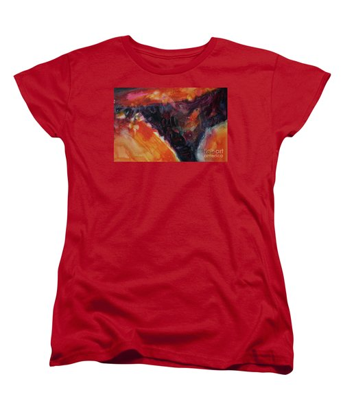 Women's T-Shirt (Standard Cut) featuring the painting Secret Hideaway by Kathy Braud