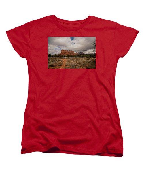 Sedona National Park Arizona Red Rock 2 Women's T-Shirt (Standard Cut) by David Haskett