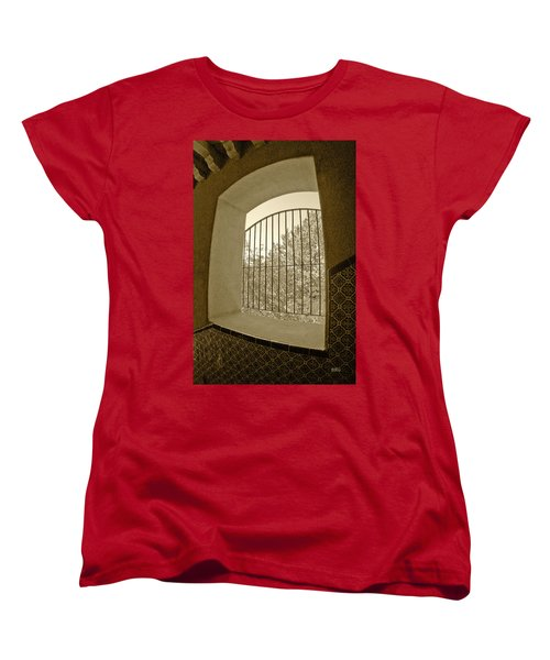 Women's T-Shirt (Standard Cut) featuring the photograph Sedona Series - Through The Window by Ben and Raisa Gertsberg