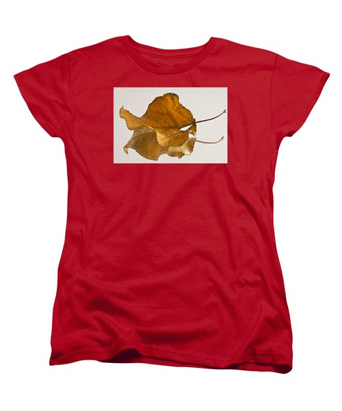 Seeing Double Autumn Leaf  Women's T-Shirt (Standard Cut) by Sandra Foster