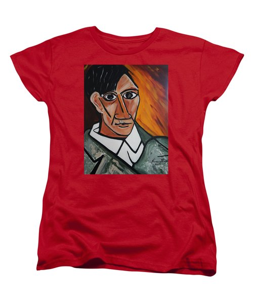 Self Portrait Of Picasso Women's T-Shirt (Standard Cut) by Nora Shepley