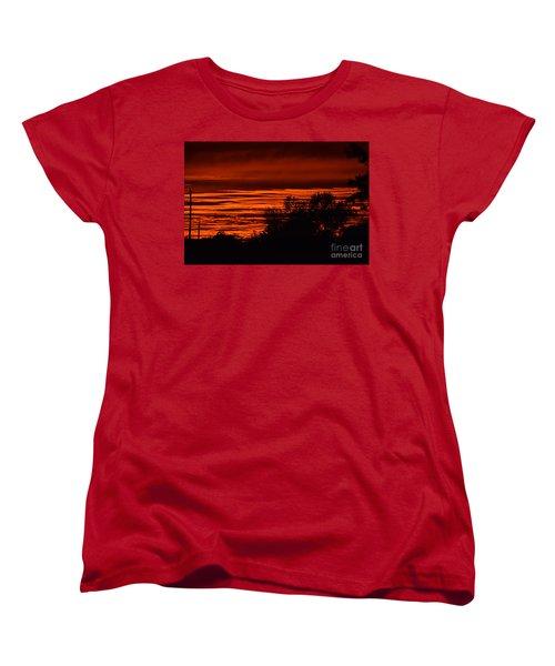 September Kansas Sunset Women's T-Shirt (Standard Cut) by Mark McReynolds