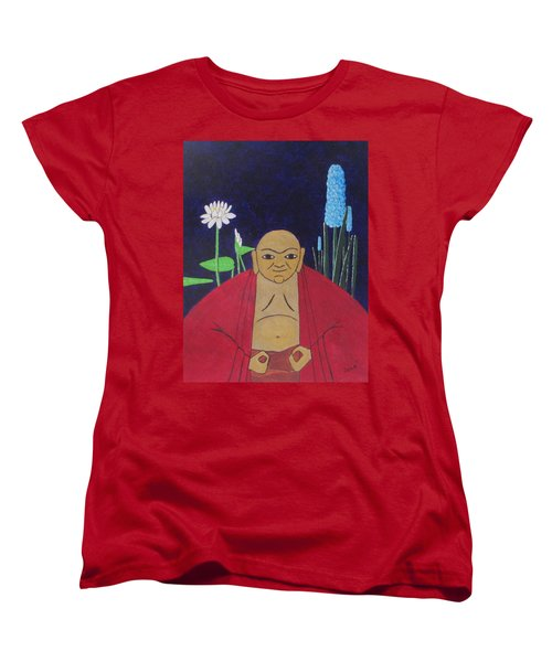 Serene Buddha Women's T-Shirt (Standard Cut) by Hilda and Jose Garrancho