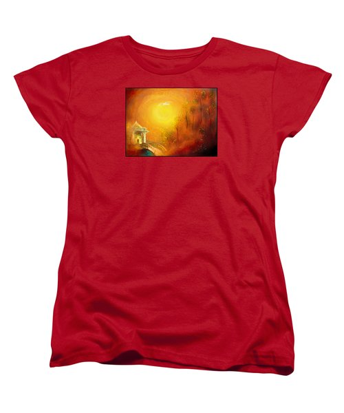 Women's T-Shirt (Standard Cut) featuring the painting Serenity by Michael Cleere