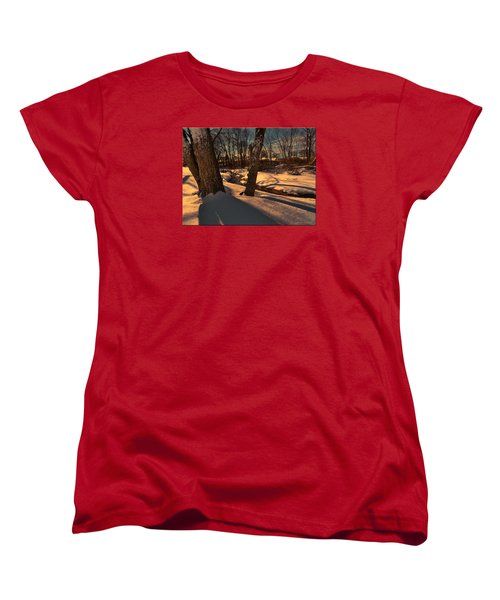 Setting Sun On A Winters Day Women's T-Shirt (Standard Cut) by Mikki Cucuzzo