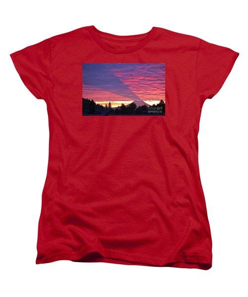 Shadow Of Mount Rainier Women's T-Shirt (Standard Cut) by Sean Griffin