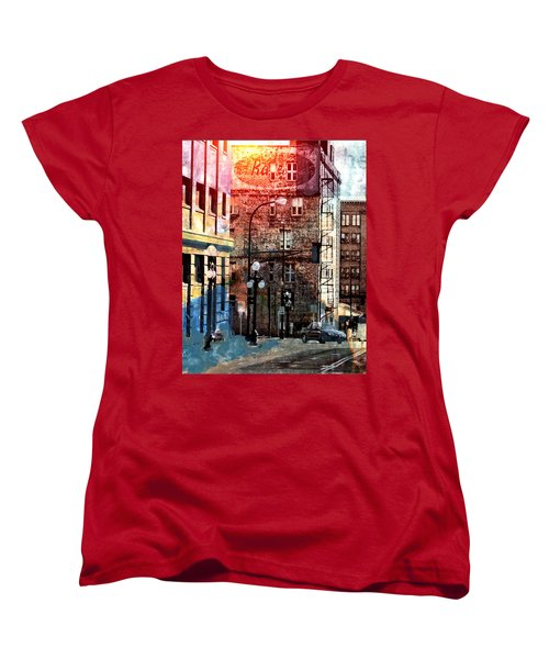 Women's T-Shirt (Standard Cut) featuring the photograph Shadow On St. Paul by Susan Stone